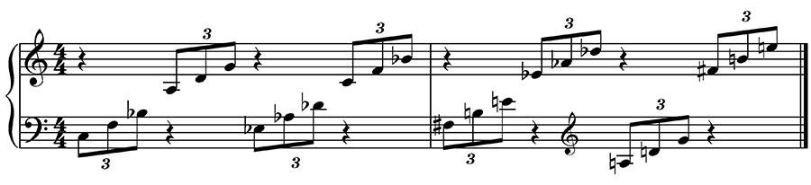 quartal voicings and arpegios