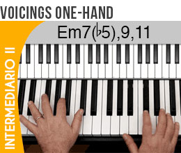 Voicings one hand - harmonia para teclas
