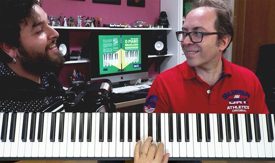 Tocar choro no piano e acordeon