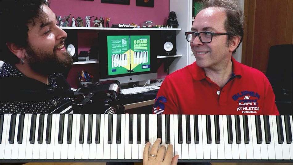 Tocar choro no piano e acordeon