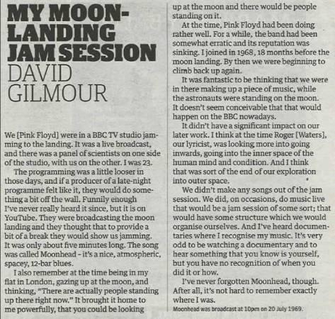 Pink Floyd e o Apollo 11