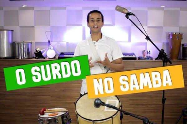 O surdo no samba