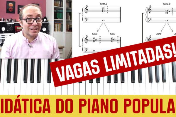 didática do piano popular curso para professores com Turi Collura Terra da Música