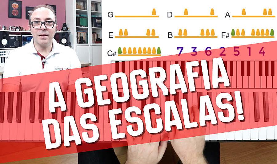 escalas nas teclas e sua geografia